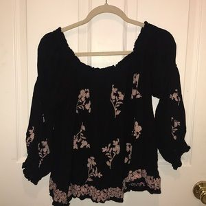 American Eagle bell sleeve off the shoulder top
